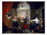 The Spinners, or the Fable of Arachne, 1657 Giclee Print by Diego Velázquez
