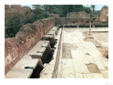 View of a Communal Lavatory, Possibly Part of the Hadrianic Bath Complex, circa 127 AD Giclee Print