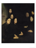 The Sermon Giclee Print by Théodule Augustin Ribot