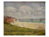 Le Crotoy Looking Upstream, 1889 Giclee Print by Georges Seurat