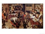 The Village Lawyer, 1621 Giclée-Druck von Pieter Brueghel the Younger