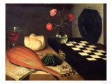 Still Life with Chess-Board, 1630 Giclee Print by Lubin Baugin