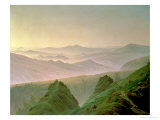 Morning in the Mountains Gicléedruk van Caspar David Friedrich