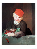 The Boy with the Cherries, 1859 Giclee Print by &#201;douard Manet