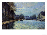 View of the Canal Saint-Martin, Paris, 1870 Reproduction procédé giclée par Alfred Sisley