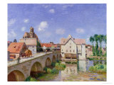 The Bridge at Moret, 1893 Reproduction proc&#233;d&#233; gicl&#233;e par Alfred Sisley