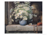 The Bouquet of Margueritas Giclee Print by Jean-François Millet