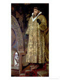 Tsar Ivan IV Vasilyevich &quot;The Terrible&quot; (1530-84) 1897 Gicl&#233;e-Druck von Victor Mikhailovich Vasnetsov