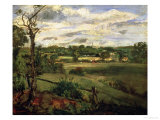 View of Highgate from Hampstead Heath, circa 1834 Giclee Print by John Constable