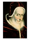 Portrait of Pope Pius V (Michele Ghislieri) (1504-72) 1576-80 Giclée-tryk af Scipione Pulzone