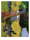 The Talisman, or the Swallow-Hole in the Bois D'Amour, Pont-Aven, 1888 (Panel) Premium Giclee Print by Paul Serusier