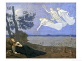 "The Dream: ""In His Sleep He Saw Love, Glory and Wealth Appear to Him,"" 1883 Giclee Print by Pierre Puvis de Chavannes"