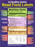 Une saine habitude: lire les étiquettes des aliments Posters