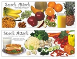 Snack Attack, 2 part laminated poster set Prints