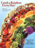 Catch a Rainbow - Fruits and Vegetables Plakat