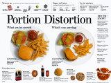 Portion Distortion Poster van Lee Dean