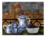 Breakfast in Florence Giclee Print by Bryan Morgan