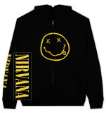 Zip Hoodie: Nirvana - Smile T-shirts