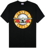 Guns N Roses - Bullet Logo T-skjorte