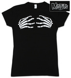 Juniors: The Misfits - Skeleton Hands - Babydoll T-Shirt