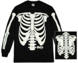 Long Sleeve: The Misfits - Glow in the Dark Skeleton T-paita