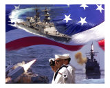 Go Navy Collage Photographic Print by David Starnes