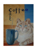 Coffee Cat Giclee Print by Ruth Palmer