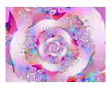 First Rose Fotografisk tryk af Vicky Brago-Mitchell