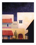 Southwest Adobe Village Giclee Print by Rick Kersten