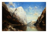 A Norwegian Fjord Giclee Print by Julius Rose