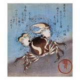 A Crab on the Seashore Giclee Print by Utagawa Kunisada