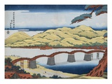 A Picture of Kintai Bridge at Iwokuni in Suo Province Giclee Print by Eisen