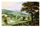A River Valley with a Swineherd Giclee Print by Marten Ryckaert