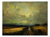 A Wagon on a Path Giclee Print by Jules Dupre