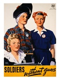 Soldiers Without Guns Giclée-tryk af Adolph Treidler