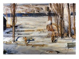 A Morning Snow, Hudson River Giclee Print by George Wesley Bellows