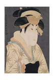 A Bust Portrait of the Actor Segawa Kikunojo III in the Role of Oshizu Giclee Print by  Toshusai Sharaku
