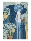 Amida Waterfall on the Kiso Highway from the Series To the Waterfalls of All the Provinces Giclee Print by  Hokusai