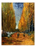 Avenue of The Elysian Fields Giclee Print by Vincent van Gogh