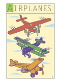 Airplanes Giclee Print by Steve Collier