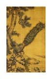Bamboo, Pine and Peacocks. Hanging Scroll, 1752 Reproduction procédé giclée par Shen Quan