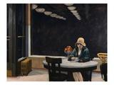 Tavola calda Stampa giclée di Edward Hopper