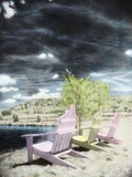 Beach Chairs Photographic Print by Kim Koza