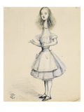Alice in Wonderland: Curiouser and Curiouser Giclee Print by John Tenniel