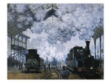 Gare Saint-Lazare Giclee Print by Claude Monet