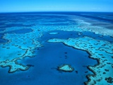 Aerial of the Great Barrier Reef Photographic Print by Mark Karrass