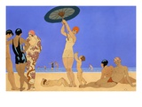 At the Lido Giclee Print by Georges Barbier