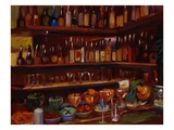 Behind the Bar, Florence Premium Giclee Print by Pam Ingalls
