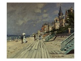 Plage de Trouville Reproduction proc&#233;d&#233; gicl&#233;e par Claude Monet