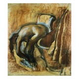 After the Bath, Woman Drying Herself Giclee Print by Edgar Degas